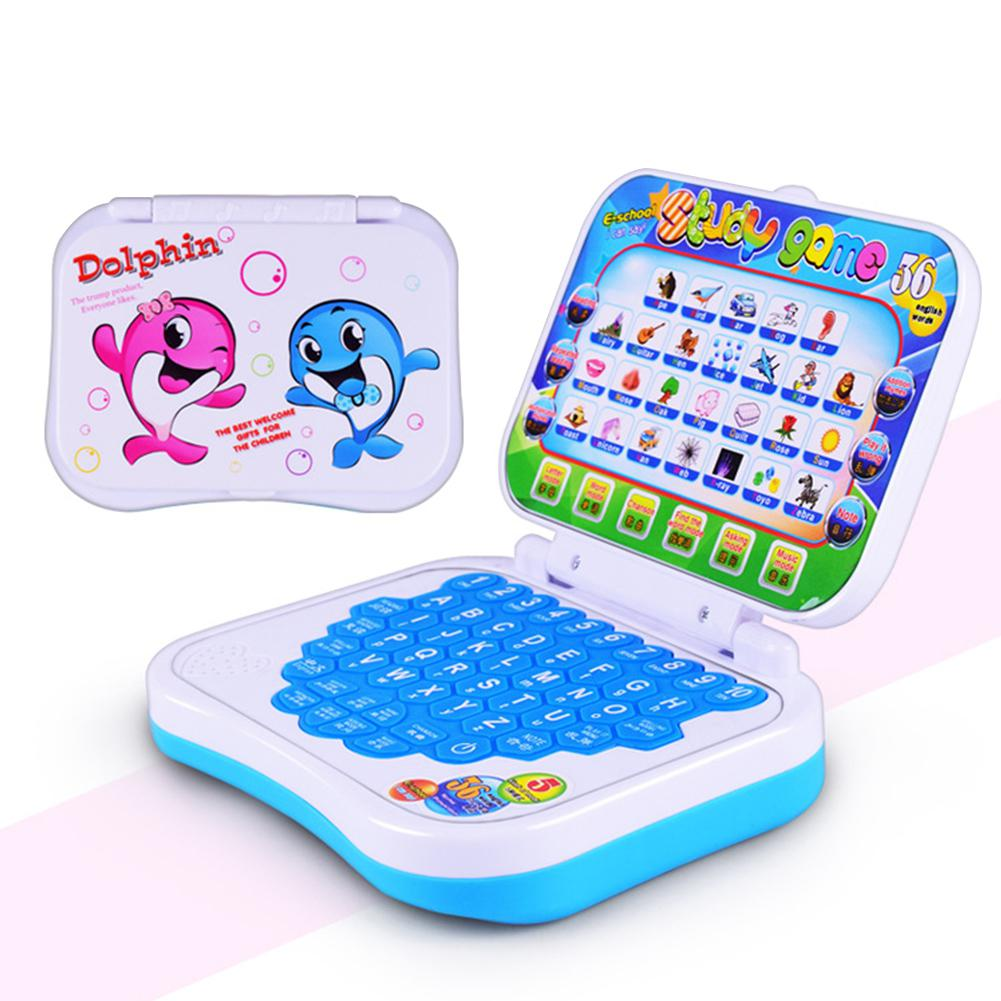 Multifunction Language Learning Machine Kids Laptop Early Educational Toy Computer Tablet Reading Machine image