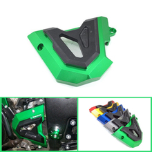 For Kawasaki Ninja 250 300 Z300 Z250 250R 300R 2013-2016 Motorcycle Engine Front Sprocket Chain Left Side Guard Protection Cover 2008 2012 kawasaki ex250 ninja 250r chain and sprocket kit heavy duty green