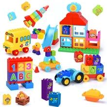 Big Size Building Blocks Figures Fruit LegoINGly Duploed DIY Assembly Bricks Trucks Educational Toys For Children
