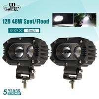 CO lumière 12D 48W Super lumineux projecteur lumière de travail LED pour Lada bateau voiture moteur SUV pick-up ATV conduite antibrouillard lampe 12V 24V