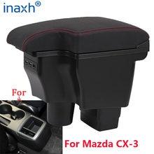 Reposabrazos para Mazda CX-3, caja reacondicionada para Mazda 2, skyactiv, cx3, CX-3, Caja de almacenamiento para apoyabrazos de coche, accesorios de coche, carga USB