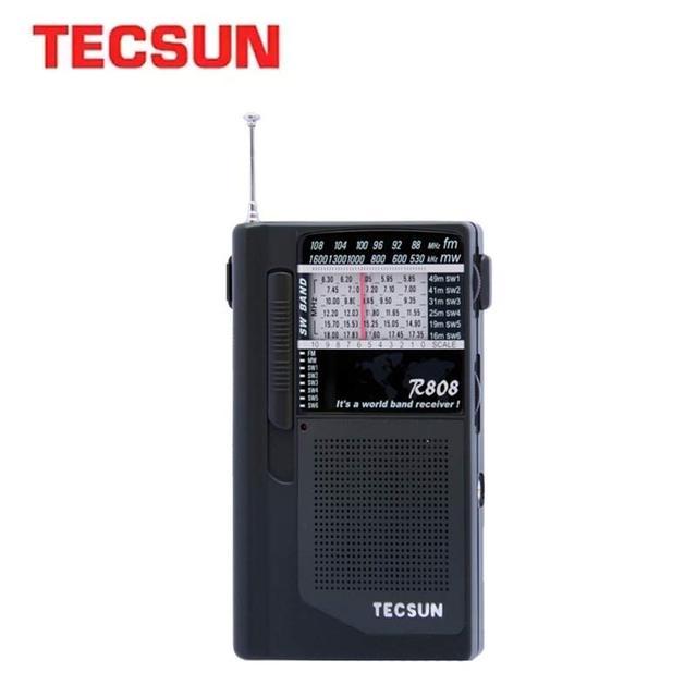 TECSUN R 808 راديو محمول FM/MW/SW كامل الفرقة مكبر صوت صغير راديو الرجعية FM:87 108 MHz/MW:525 1610kHz/SW1 6: راديو 5.80 18.12MHz