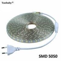 LED Strip Light Ribbon Waterproof Bright Than 5630 2835 3528 LED Tape White Warm White Red Green Blue 5050 LED 220V 3