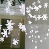 12 piezas 3M fiesta Navidad copos de nieve decoraciones 3D copo de nieve hueco papel guirnaldas de adorno nieve falsa decoraciones de invierno para el hogar