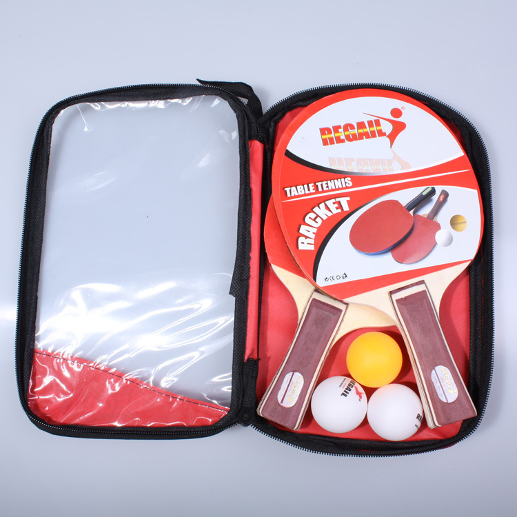 Regail Table Tennis Racket Aa08 Square Bag Double Package Training Table Tennis Racket Entertainment Racket Ultra High Sexual Pr