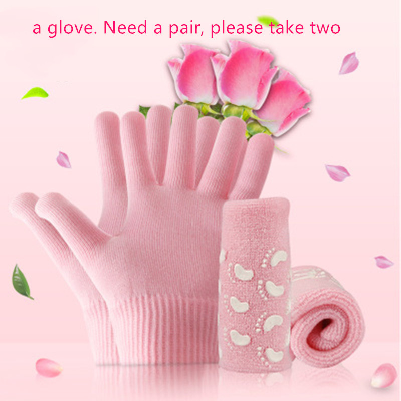 1PC SPA Moisturizing Gel Sock Glove Pink Reusable Adult Hand Mask Whitening Exfoliating Smooth Hands Feet Skin Care Tool