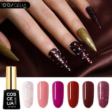 Coscelia Uv Nail Gel Nagellak Gel 8 Ml Semi Permanente Langdurige Nail Art Uv Gel Polish Voor Manicure top Coat Hybrid Primer(China)