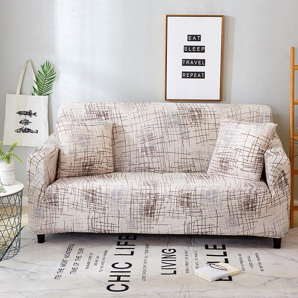 28Cover Printed Elastic Cover Stretch Slipcovers Sectional Living Room Couch Cover Sofa Cover Single/Two/Three Seat