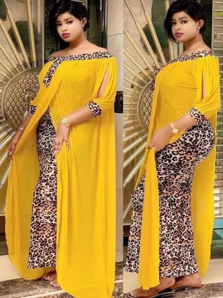 Womenmaxi-Dress Vestidos Strapless Patchwork Bodycon Ethnic-Style Outdoor Sexy Leopard
