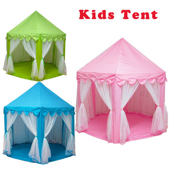 Folding  Kids Tent Play House  Portable Toy Tents for Children Baby Girl Boy Outdoor Indoor Playhouse Princess Castle baby indoor playhouse baby folding portable beach castle tent toy house for baby gifts