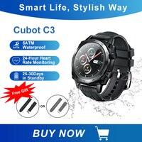 Cubot C3 SmartWatch 1.3 inch deporte Monitor de ritmo cardíaco durante el sueño 5ATM táctil resistente al agua reloj deportivo inteligente con rastreador para hombres y mujeres Android IOS