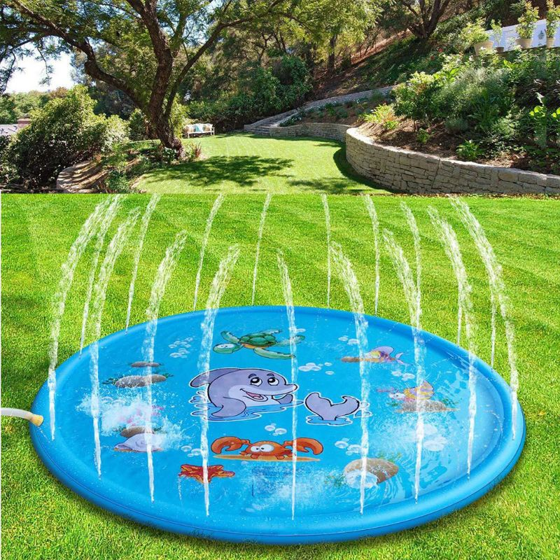 PVC Inflatable Cushion Baby Kids Spray Water Game Pad Outdoor Lawn Children Play Water Mat Boys Girls Summer Gifts