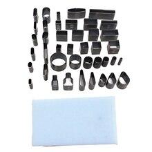 Mestiere Del cuoio Fai Da Te 39 Forma del Foro di Stile Hollow Cutter Punch + Pad Set Per I Telefoni Camara