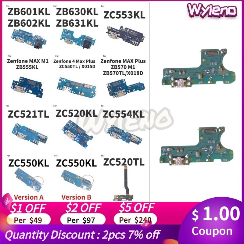 For ASUS Zenfone 3 4 3S Max Pro Plus M1 M2 ZC520TL ZC520KL ZC554KL ZC550KL USB Charger Dock Charging Port Flex Cable MIC Board