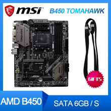 Pour MSI ARSENAL GAMING B450 TOMAHAWK AM4 AMD B450 SATA 6 Gb/s USB 3.1 HDMI ATX carte mère AMD