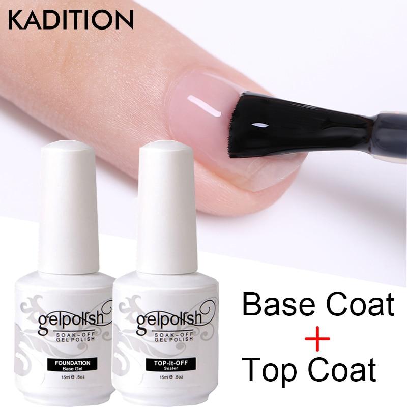 New 15 Ml Base Coat Top Coat + Basecoat Color Gel Matte Nail Polish UV Soaked Non-wiping Top Coat UV LED Art Gel Nail Polish