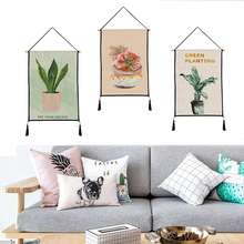Succulent plants tapestry hanging print decorative paintings household textile custom polyester 45cm*65cm