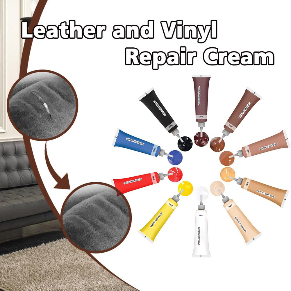 20ml Car Seat Panel Sofa Coat Repair Cream Agent Leather Retreading Restore Cleaner Auto Interior Instrument Panel coat Cleaning