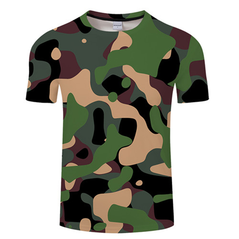 3D Camouflage T-shirt Army Green Blue Camouflage Tshirt Men Women Casual Summer Tee Hunting Short Sleeve Tops 4XL