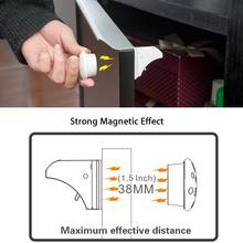 Child Safety Magnetic Cabinet Lock 4-12 locks+1-3key Kids Security Children Protections Baby Safety Cabinet Drawer Door Lock