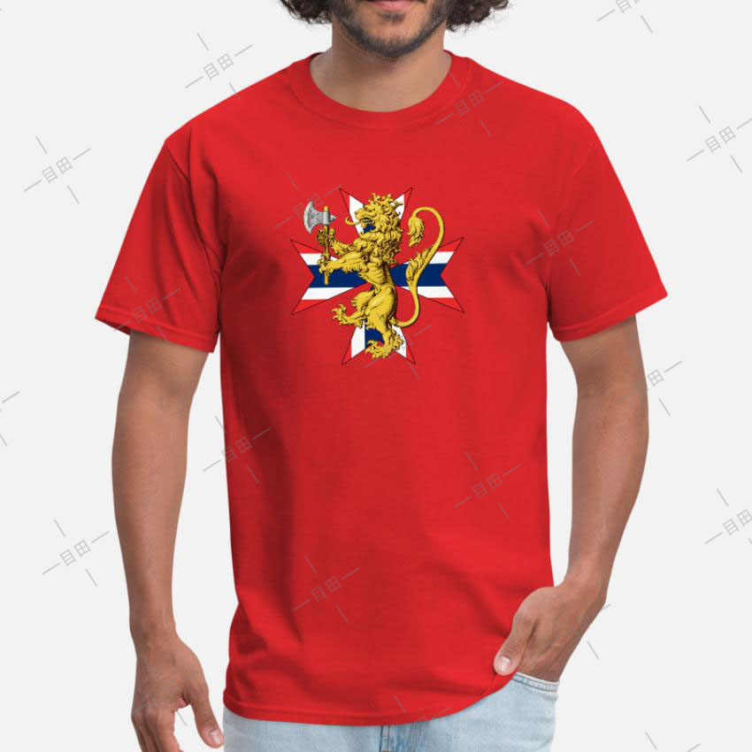 Норвежский Лев с флагом крест футболка норвежский флаг герб Винтаж Ретро Heritage Norse
