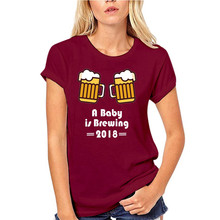 A Baby Is Brewing 2018 T Shirt Tee New Dad Est. Pregnancy Tee Shirt Hipster Harajuku Brand Clothing T-shirt