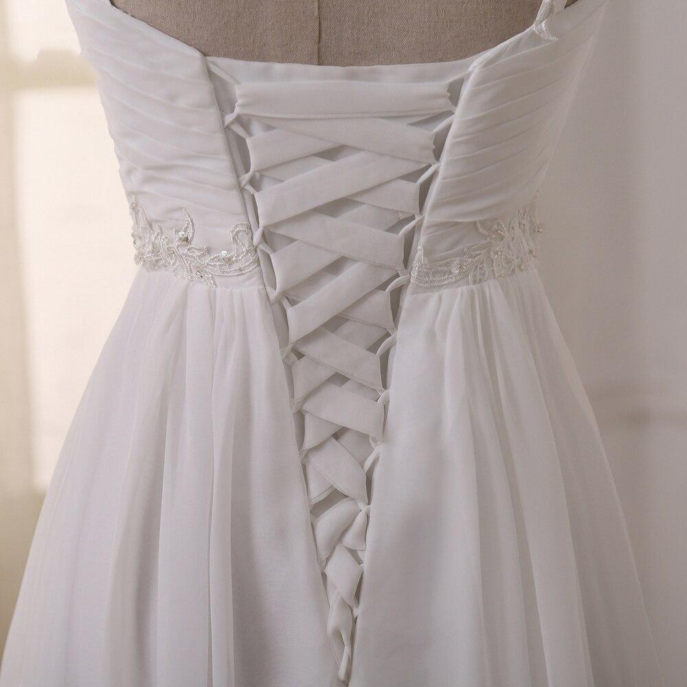 Weddings & Events ...  ... 32672834355 ... 4 ... Jiayigong Beach Wedding Dress vestido de noiva In Stock Plus Size Spaghetti Straps Beading Chiffon Wedding Gowns Bridal Dresses ...