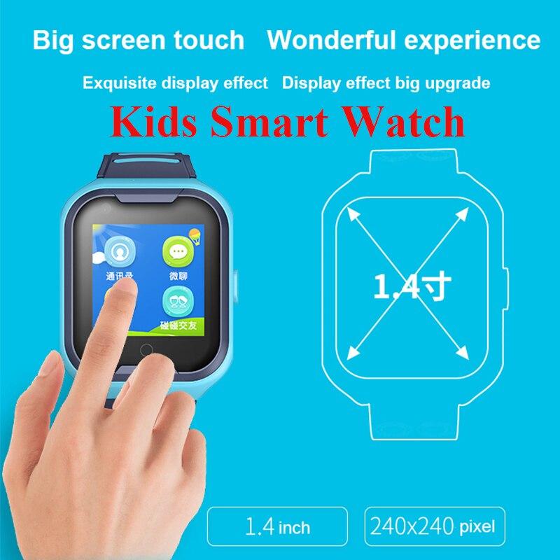 GPS montre SOS montre enfants téléphone montre Wifi étanche vidéo appel Smartwatch 1.4 pouces enfants horloge intelligente caméra bébé montre pk d8 - 5