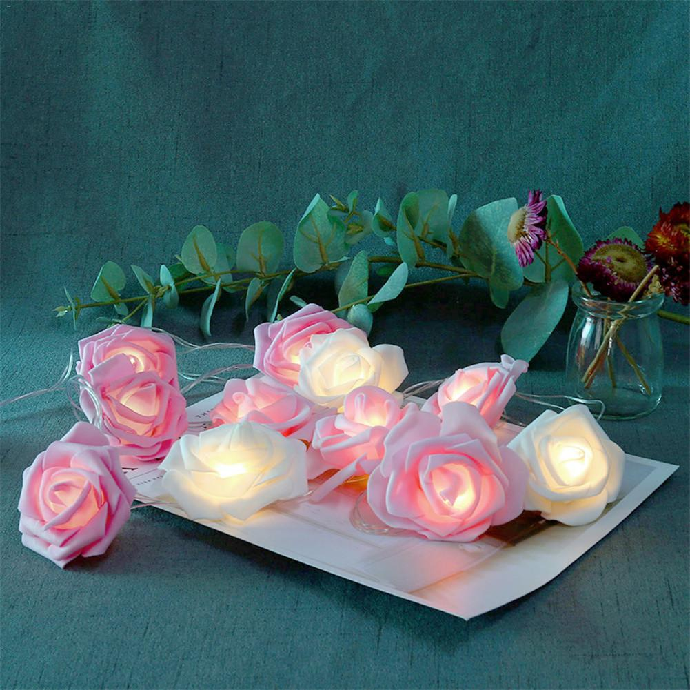 3.7M LED Rose Flower String Lights Birthday Party Wedding Love Decoration Luminaria FestivalGarland Guirlande Lumineuse Light
