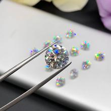 9mm D kolor 3 0ct Carat kamień Moissanite okrągły Brilliant Cut wyjaśnić VVS1 pozytywny Test luźne diamenty do dostosowywania wniosku pierścień tanie tanio KALALA WHITE Excellent none 3 carat Grzywny D Color