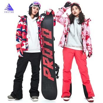 Kobiety kombinezon narciarski gorąca sprzedaż gruby zimowy ciepły Snowboard kurtka narciarska Outdoor Sports narciarstwo Pant zestawy kobiety narciarstwo płaszcz na śnieg tanie i dobre opinie COTTON Mikrofibra WOMEN Z kapturem Skiing Pasuje prawda na wymiar weź swój normalny rozmiar HXF70002HXF70010 Kurtki Wodoodporna
