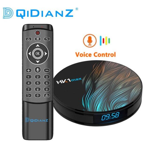 HK1MAX アンドロイド 9.0 スマート TV ボックス RK3318 クアッドコア 2.4 グラム & 5 グラムワイヤレス無線 Lan セットトップボックスメディアプレーヤー HK1 最大 google の音声 PK H96MAX