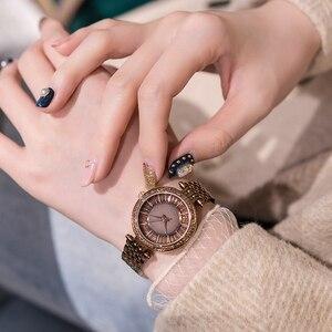 Image 5 - Relojes dama reloj de lujo de acero inoxidable, reloj de pulsera de cuarzo para mujer