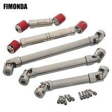 Eixo de acionamento de aço inoxidável spline interno para 1/10 rc rastreador axial scx10 wraith rr10 capra traxxas trx4 trx6 tf2 redcat gen8