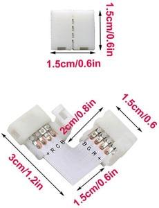10 шт. 10 мм 4 Pin l-образный разъем RGB Светодиодная лента 90 градусов Угловые соединители для 5050 2835/3528 RGB Светодиодная лента светильник
