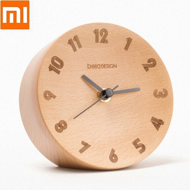 Xiaomi Youpin Nordic Minimalist Decoration Small Pendulum Clock Wood Mute Sweeping Home Office Alarm Clock