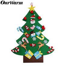 OurWarm DIY Войлок Рождественская елка для детей Рождественская елка украшения год Рождественский подарок для детей Рождественская вечеринка