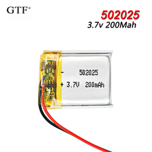 502025 3.7V 200mAh Lithium Polymer Li-Po li ion Rechargeable Battery For toys speaker Tachograph MP3 MP4 GPS Bluetooth Lipo cell цена