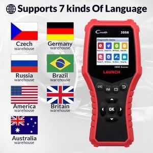 Image 5 - 起動 X431 CR3008 OBD2 自動車スキャナ OBDII コードリーダー診断ツールバッテリー電圧テストツール無料アップデート pk KW850