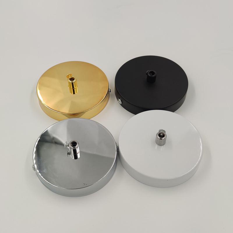 Ceiling Plate Vintage Round 10cm Black/White/Silver Lighting Accessories For Pendant Lamp DIY +Lock Wire Lamp Base