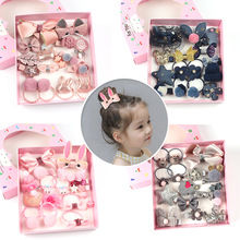 Headdress Hair-Clips Jewelry-Gift Elasticity Girls Baby Children Cute 18pcs/Set Bow 7-Color