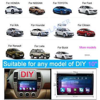 Car Radio 2 din 10″ Android Multimedia Player GPS WIFI Bluetooth Player for Toyota Volkswagen Hyundai Kia Renault Suzuki 1G 2G 4