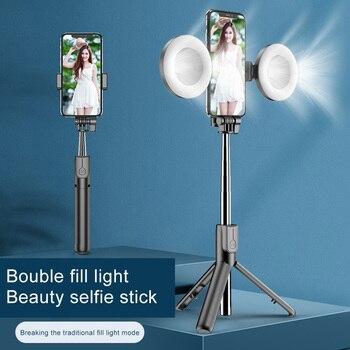 MAMEN Wireless Bluetooth Selfie Stick For iPhone 11 Pro 7 8 For Samsung Galaxy Foldable Handheld Monopod Shutter Remote Tripod