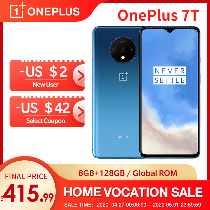 In Stock OnePlus 7T New Global ROM Snapdragon 855 Plus Smartphone 6 55 AMOLED Display 90Hz