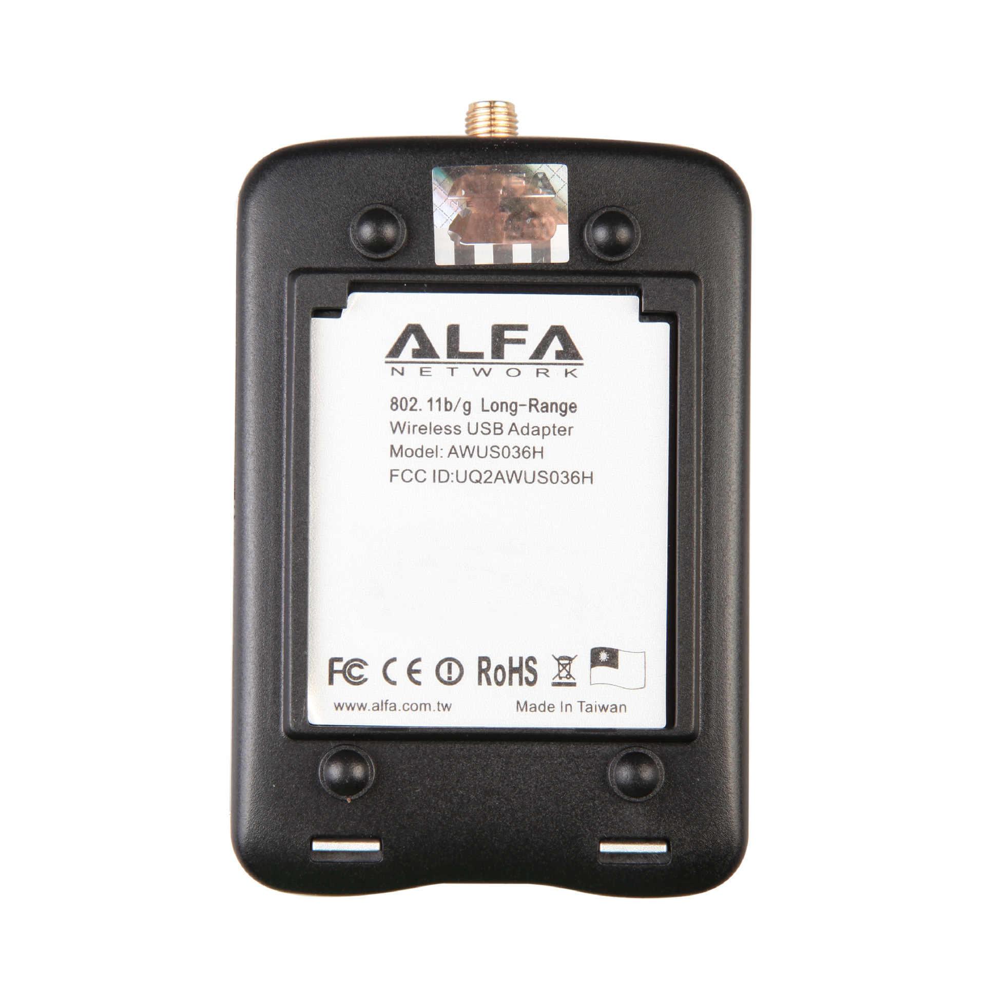 ALFA AWUS036H Realtek RTL8187L Chipset 2000mW sans fil USB Wifi adaptateur 54Mbps sans fil USB carte Wifi