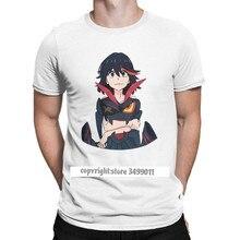 Ryuko Matoi-camisetas de algodón puro para hombre, Camiseta cuello redondo de Anime a La moda japonesa Kill La Kill
