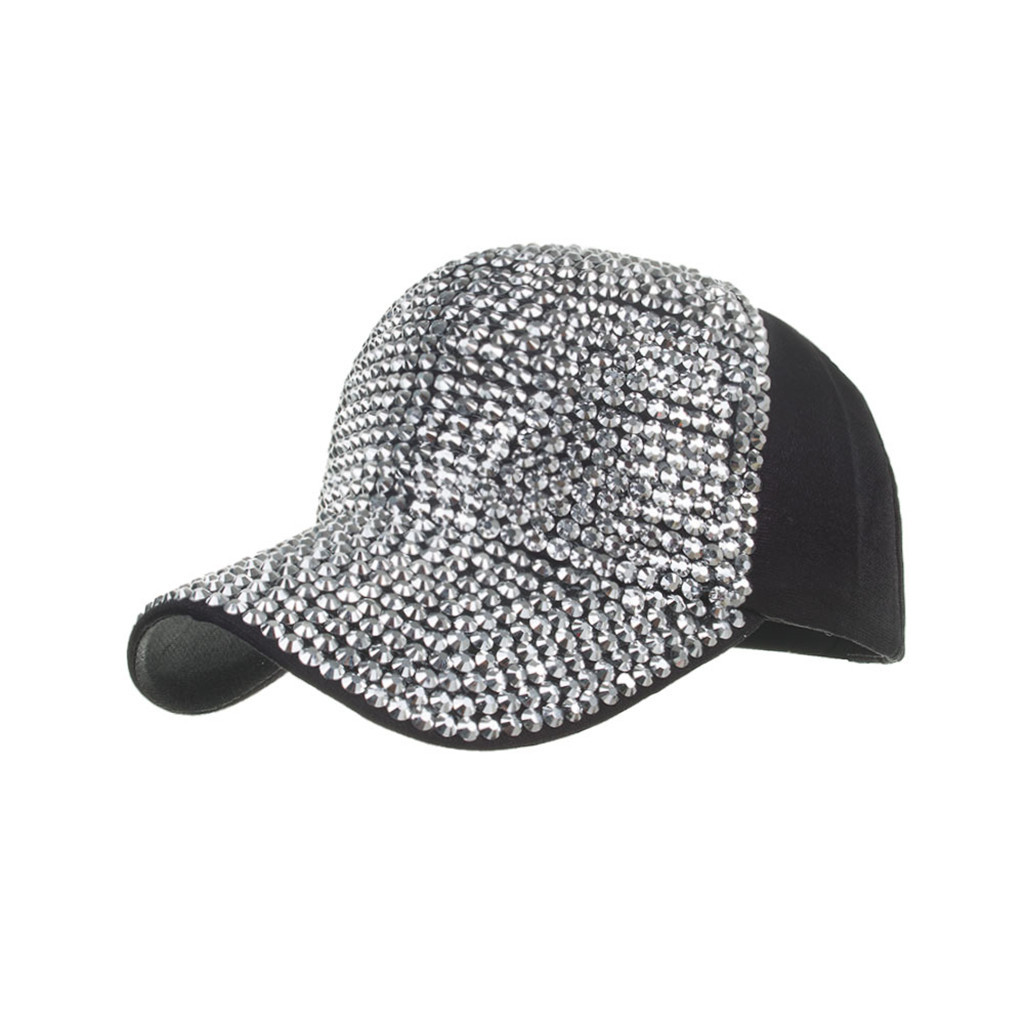 Men Women Baseball Caps Fashion Adjustable Cotton Cap Star Rhinestone Cap Outdoor Sun Hat Adjustable Sports caps in summer#T2 4