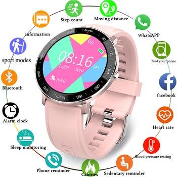 2020 New Ladies Smart Digital Watch Luxury Blood Pressure Digital Watch Fashion Calorie Waterproof Sports Watch for Android IOS