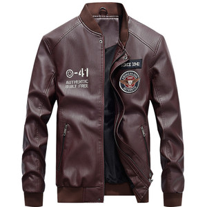 Image 5 - Winter Leather Jacket Men Motorcycle PU Leather Jackets 2020 New Mens Casual Fleece Warm Bomber Coat Male Slim Fit Windbreaker