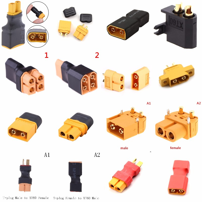 XT60 XT-60 Male Female Parallel Adapter Converter Connector Cable Lipo Battery Harness Plug Wiring Wholesale